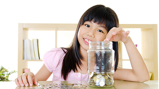 Encouraging good saving habits in children