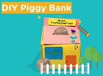 DIY Piggy Bank<br>[Aged 5-8]